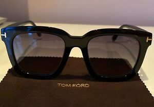 Tom Ford FT0690 Sari Sunglasses Color 01D Shiny Black Size 52MM TF690 Polarized