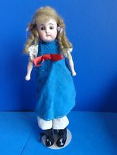 "Antique 11"" Bisque Head Doll- Belton Type? Open/Close Mouth"