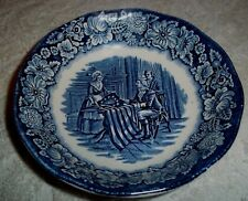 """Liberty Blue Colonial Scenes Betsy Ross Berry Bowl Staffordshire  5"""""""