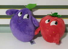 STIKEEZ PLUSH TOY SUNNY STRAWBERRY AND EDDIE EGGPLANT CHARACTER TOY