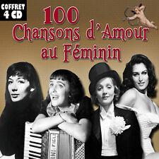 Coffret 4 CD 100 chansons d'amour au féminin