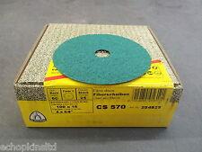 """Klingspor CS570 Fibre Discs 100x16mm Grit 60 - Box of 25 (4"""")"""