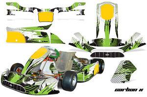Go Kart Graphics Kit Decal Sticker Wrap For Tony Kart Venox CARBON X GREEN