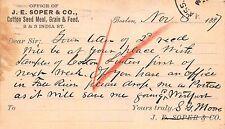 Postcard J.E. Soper & Co Cotton Seed Meal, Grain & Feed Massachusetts~113742