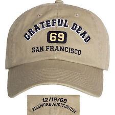 Grateful Dead San Francisco 1969 Avalon Music Rock Band Osfm Adjustable Hat Cap