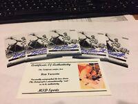 5 - Secretariat - Ron Turcotte Signed 2012 Leaf Promo Cards -  Pic / COA