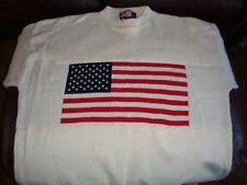 MEN'S SWEATER SIZE 2X AMERICAN FLAG STARS AND STRIPES MADE IN THE USA 100%COTTON