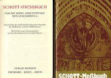 Schott-Messbuch Sonntage Festtage Lesejahr A, Leder mit Rundumgold, Herder 1989