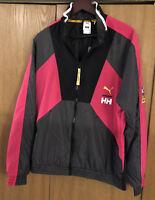 Puma x Helly Hansen Track Jacket Barely Rose Black 597144-15 Men's Size M🔥