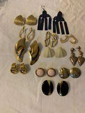 Vintage Pierced Earring Lot 12