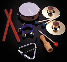 6-Piece Rhythm Band Music Instrument Set Tambourine Bell Cymbal Triangle 100100