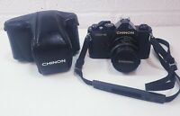 Vintage Chinon CM-4 35mm Film Camera with 50mm 1.9 Lens with case working