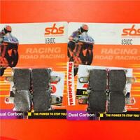 KAWASAKI ZX6R 07 TILL NOW FRONT BRAKE PADS SBS DUAL CARBON RACE 838DC