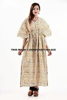 New Indian Long Kaftan Plus Size Women Dress Caftan Boho Hippy Beach Cover Up