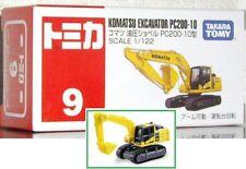 1/122 Tomica #9 Komatsu Excavator PC-200-10 TakaraTomy Free shipping *