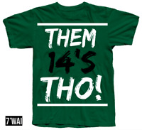 """""""THOS!"""" 14 SHIRT IN JORDANS """"GREEN FOREST"""" AIR GREEN COLORWAY XIV RETRO"""