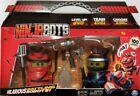 NINJABOTS 2 PACK SET HILARIOUS BATTLING ROBOTS WEAPONS RED & BLACK New