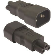 IEC Power Lead / Cable Adapter C14 (Male) Plug to C5 Clover-leaf Socket (Female)