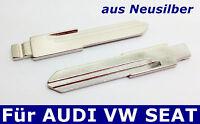 2x Ersatz Klappschlüssel Rohlinge aus Neusilber für AUDI VW Seat AH
