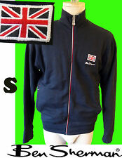 Ben Sherman black track suit jacket british flag patch small s