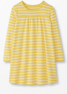 NWT HANNA ANDERSSON PLAY DRESS LS popover DRESS YELLOW STRIPE  8 130 $24