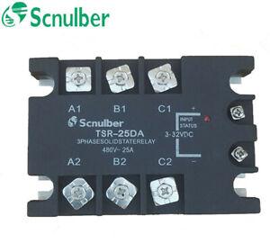 Scnulber three-phase solid state relay TSR-25DA 480VAC 25A DC control AC