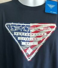 Columbia PFG Men's Performance Fishing Gear USA Logo SS T Shirt XL New