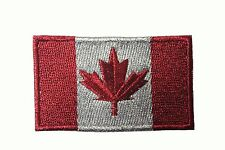 CANADA Country Flag Small REFLECTIVE IRON-ON PATCH CREST BADGE 2.5 X 1.5 INCH