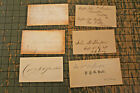 6 personal calling cards, all from civil war officers (USA & CSA)