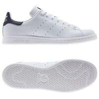 Adidas Originaux Stan Smith Baskets Tailles Ru 7-12 Blanc / HOMMES BLEU S
