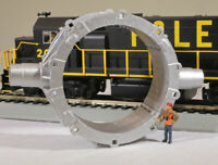 HO Scale Toroidal Steel Mill Casting Model Railroad Flatcar Load Mesta METALLIC