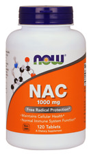 N-Acetyl-Cysteine (NAC) 1000 mg 120 Tablets by NOW Foods **Free Shipping**