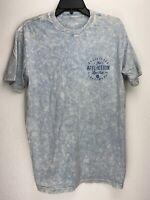 Affliction Short Sleeve T-Shirt Mens Blue Size M