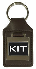 Leather Keyring  Birthday Name Optional Engraving - Kit