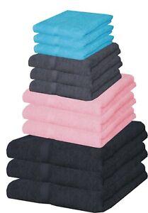 1 4 7 Pcs Towel Bale Set 100% Egyptian Cotton Face Hand Bath Towels Flannels