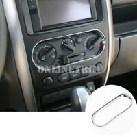ABS Chrome Console Air Condition Button Frame Cover For Suzuki Jimny 2007-2017