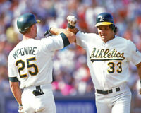 Oakland Athletics MARK MCGWIRE & JOSE CANSECO Glossy 8x10 Photo 'Bash Brothers'