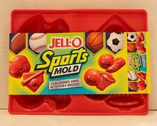 JELL-O SPORTS MOLD Baseball Football Basket Ball Soccer Lot of Three
