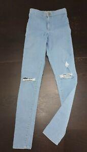 Topshop Joni womens skinny Ripped Jeans Size 26 uk 8