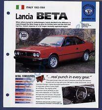 Lanica Beta Brochure Specs 1983-1984 Group 3, No 65