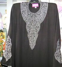 Neuve ! Très belle Abaya djellaba noire strass Dubai