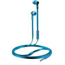 COBY CV-E111BL Earbuds w/Mic Headphones CVE111 Blue