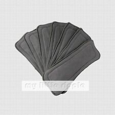 Bulk 5-layer Reusable Bamboo Charcoal Inserts Liners for Baby Cloth Nappies