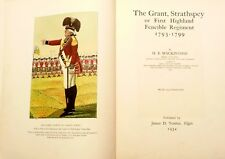 Rare 1934 Signed SCOTLAND MILITARY STRATHSPEYS FIRST HIGHLAND FENCIBLE REGIMENT