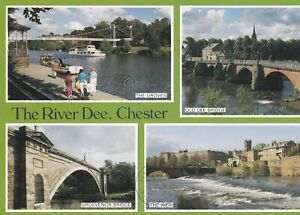 Chester. The River Dee. 1993 Judges multi-view postcard in GC. Written & posted