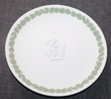 Vintage Wedgwood Collectors Society Green & White Jasperware Plate