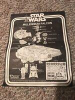 INSTRUCTIONS ~ VINTAGE STAR WARS MILLENNIUM FALCON KENNER 1977 1979