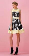 Abito Allure giallo e nero collo gioiello 48 Elegant dress Elegantes Kleid Robe