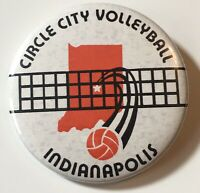 "Vintage Circle City Volleyball Indianoplis 2"" Pinback Button"