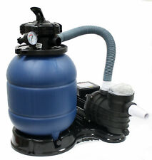 "12"" Sand Filter with 2880 Gph Water Pump for Intex Above Ground Swimming Pool"